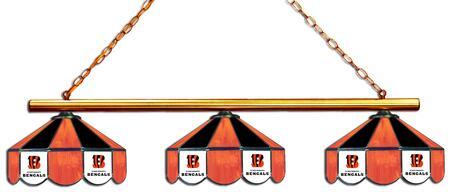 18-1123 Cincinnati Bengals Glass 3 Shade Lamp