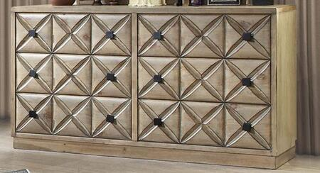 Markos Weathered Light Oak Wood Dresser by Furniture of America