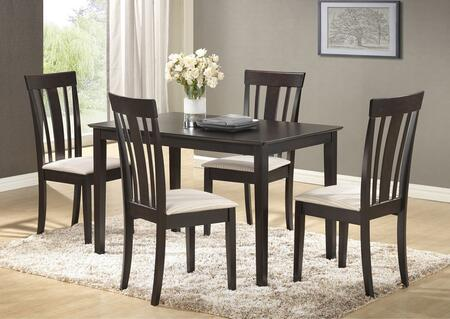 G0035tc 5 Pc Dining Room Set With 48 Dining Table + 4 Side Chairs In Wenge