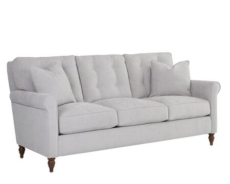 Holland Collection D84000-S-EG 85 inch  Sofa with Rolled Arms  Down Blend Cushions and Turned Legs in Edwin