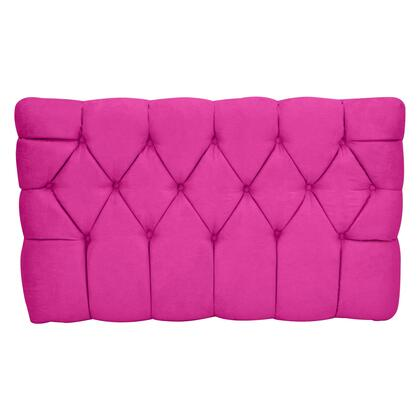 inch Meridia 11201PS Collection inch  Tufted Upholstered Twin Headboard with Metal Legs and Wood Frame in Pink