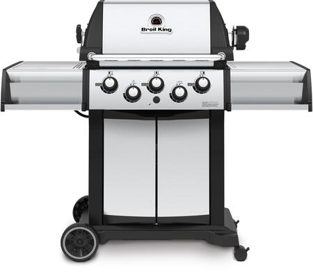 946884 Signet 90 Liquid Propane Gas Grill with 3 Burners  40000 BTU Main Burner Output  10000 BTU Side Burner and 15000 BTU Rotisserie Burner  400 sq. in.