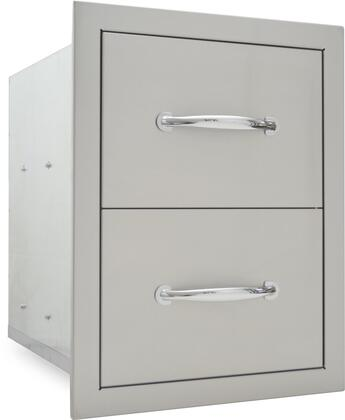 SODX2D20X15 20 inch  x 15 inch  Built In Deluxe Stainless Steel Double Drawer Lined and Raised Reveal Design with Self Rimming Trim