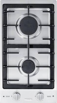 CS1012-1G 12 Double Gas Cooktop with Stainless Steel Control Knob  Sealed Burners  Electric Spark Ignition and Cast Iron Grate  in Stainless