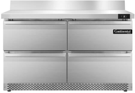 SWF48BSFBD 48 inch  Worktop Freezer with 4 Drawers  6 inch  Backsplash  13.4 Cu. Ft. Capacity  Front Breathing Compressor  Aluminum Interior  Interior Hanging
