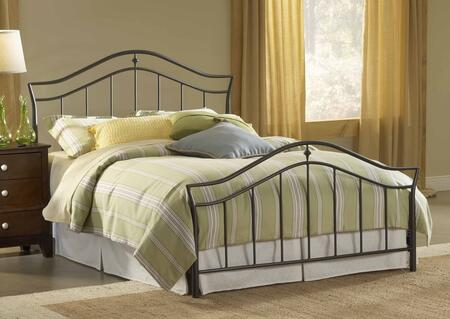 1546BQR Imperial Queen Size Bed Set with Rails Included  Classic Spindles  Arched Top Rail and Tubular Steel Construction in Twinkle Black