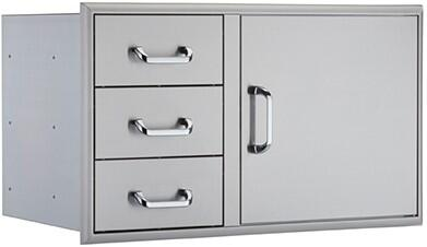 OCI-40CDU 40 inch  Combination Unit with 3 Drawers and 1 Access Door: Stainless