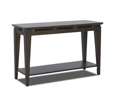 Regency Collection 645-825-STBL 48 inch  Sofa Table with Tapered Legs  Bottom Shelf and Floating Metal Accents in
