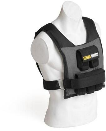 XM-2777 25 lbs. Commercial Micro Adjustable Weighted Vest with Incremental Weights  Easy Adjustable Velcro Strap and Commercial Material in