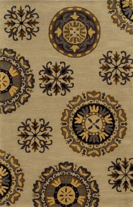 VOLVO827900040912 Volare VO8279-9' x 12' Hand-Tufted 100% Wool Rug in Dark Beige  Rectangle