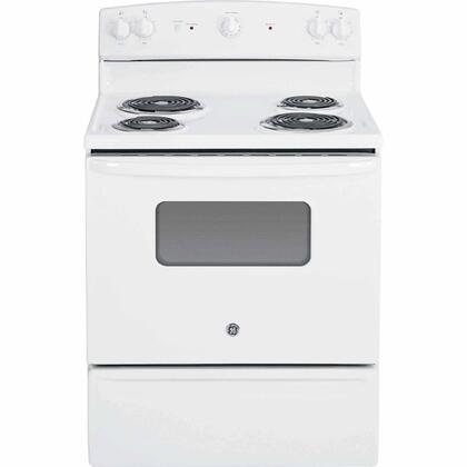 JBS10DFWW 30 5.0 cu. ft. Oven Capacity Free-Standing Electric Range  Backsplash Controls  Standard Clean Oven  Coil Heating Elements  Duel-Element