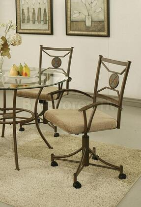 17193 Douglas Caster Chairs in Brown Metal (Set of
