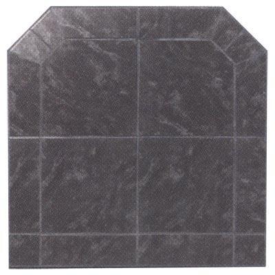 HRS40BFC Corner Hearth Board Hearth Pad  Black