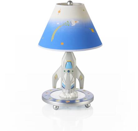 Rocket G88307 19 inch  Table Lamp with On and Off Switch  Hand Painted and Space Themed in