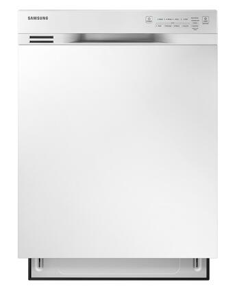 """Samsung 24"""" Front Control Built-In Dishwasher with Stainless Steel Tub White DW80J3020UW"""