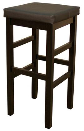Jensen Series 130806BLK-V01 30 Traditional Backless Bar Stool with Comfortable Cushion and Floor Glides in Black Finish with Black Vinyl