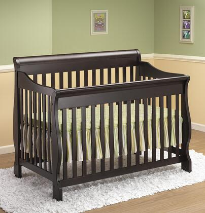 314E 54 inch  4-in-1 Sleigh Crib with Hardwood Construction and Static Side Rail in