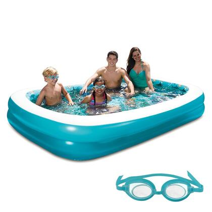 NT5051 3D Inflatable Rectangular Family Pool - 103-in x