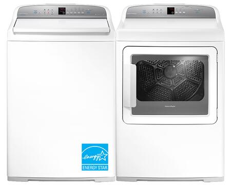 """White Top Load Laundry Pair with WL4027G1 27"""""""" Washer and DG7027G1 27"""""""" Gas"""" 687266"""