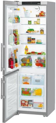"CS1350BL 24"" Energy Star Left Hinge Bottom Freezer Refrigerator with 13 cu. ft. Capacity  DuoCooling  FrostSafe  NoFrost and Ice Maker in Stainless"