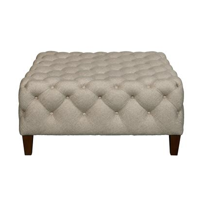 DSD108002538 Square Button Tufted Cocktail Ottoman In Sateen Linen