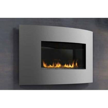 WHD31N 20000 BTU Plazmafire Wall Hanging Fireplace With Heat Resistant Ceramic Glass  Slate Brick Panel  Gas Shut Off & Electronic Ignition Gas Valve with