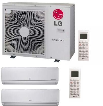 Dual Zone Mini Split Air Conditioner System with 36000 BTU Cooling Capacity  2 Indoor Units  and Outdoor 730318