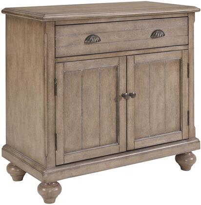 HF-ST2542-58-2 Farmhouse Hall Chest with Distressed Detailing  Brass Hardware and Drawer and Two Doors in Natural Wood Tone