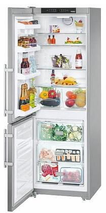 "CS1200L 24"" Star K  Energy Star Bottom Freezer Refrigerator with 11.46 cu. ft. Capacity  SuperFrost  Door Storage  Acoustic Door and Temperature Alarm:"