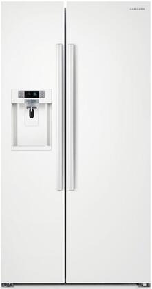 Samsung 22.3 Cu. Ft. Counter-Depth Side-by-Side Refrigerator with Thru-the-Door Ice and Water White RS22HDHPNWW