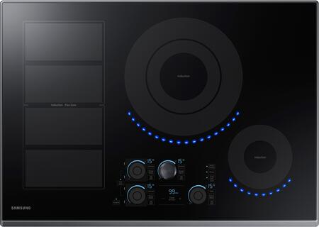"NZ30K7880UG 30"" Induction Cooktop with Induction Flex Zone  Virtual Flame  Wifi  Magnetic Knob and Tap Touch Control"