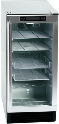 FSB-15OD 15 inch  Outdoor Beverage Center with 4 Wire Shelves  UL Listed  Frost Free  and 304 Stainless Steel Construction  in Stainless