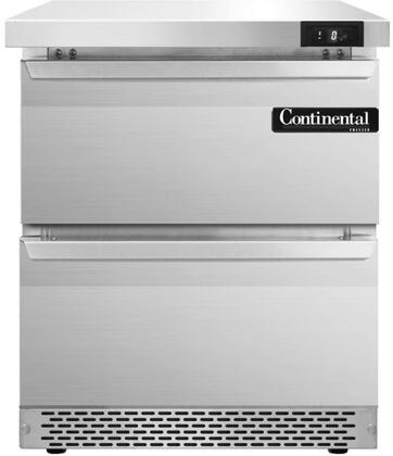 SWF27FBD 27 inch  Worktop Freezer with 2 Drawers  7.4 Cu. Ft. Capacity  Front Breathing Compressor  Aluminum Interior  Interior Hanging Thermometer  and