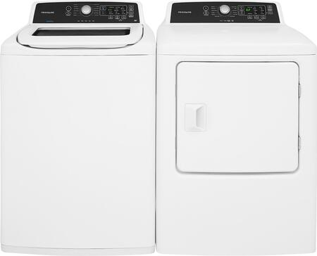 "White Top Load Laundry Pair with FFTW4120SW 27"""" Washer and FFRE4120SW 27"""" Electric"" 755758"