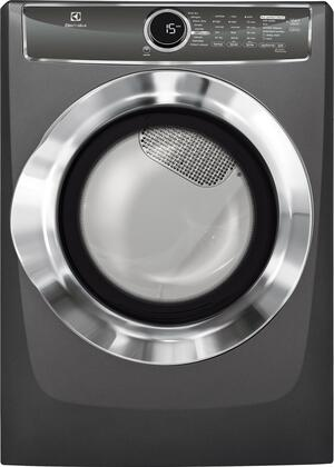 """EFMG617STT 27"""""""" Energy Star Front Load Gas Dryer with 8 cu. ft. Capacity  Perfect Steam  Allergen Cycle  15 Minute Fast Dry and Reversible Door:"""" 683409"""