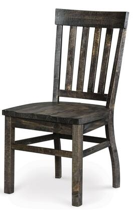 D249160 Bellamy Dining Chair with Pine Solids and Plywood in Deep Weathered Pine