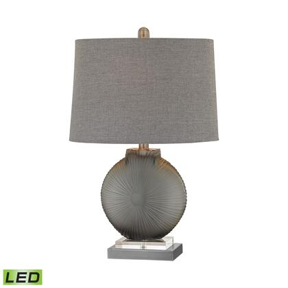D2909-LED Simone 1 Light LED Table Lamp in Grey And Pewter
