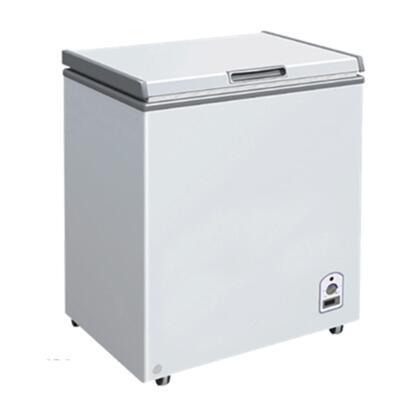 MXH7.1S Maxx Cold X-series Chest Freezer with 7.1 cu. ft.  Solid Hinged   Recessed Handle  Aluminum Interior  White Exterior   Light  Temperature Display