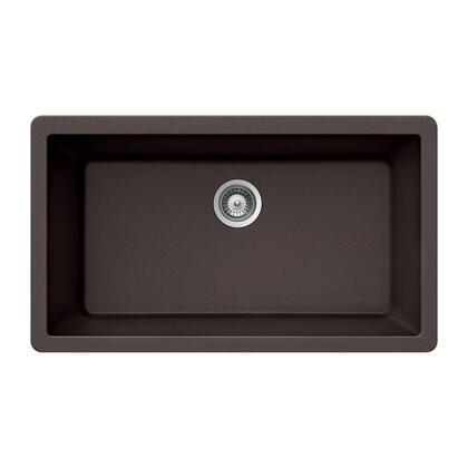 V-100U MOCHA Quartztone Series Granite Undermount Large Single Bowl Kitchen Sink