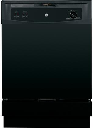 "GE Spacemaker 24"" Built-In Dishwasher Black GSM2200VBB"