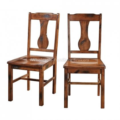 CHH2DO Dark Oak Wood Dining Chairs  Set of
