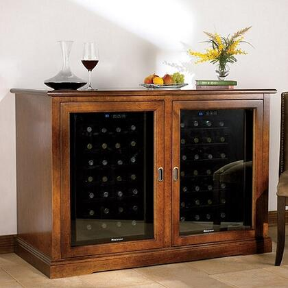 3359302 Siena Mezzo Wine Credenza with Two Wine Coolers  Sliding Glass Doors  and Solid Brass Hardware  in