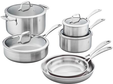 Zwilling 64090-001 Spirit 3-Ply 10-Pc Stainless Steel Cookware Set
