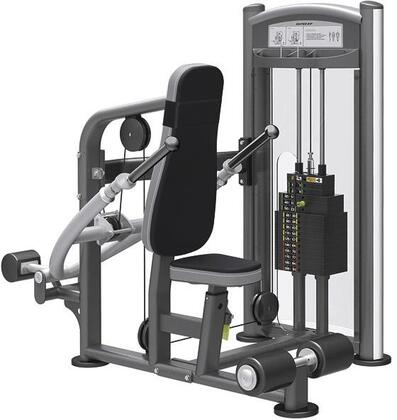 E-5084 Titanium Series 9317 Seated Dip Machine with 200 lbs. Incremental Weight Stack  Military Grade Cables and High-Tech Oval Tubing in Black and