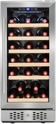 AKDY WC0033 30 Bottles Single Zone Adjustable Temperature Compressor Function Freestanding Wine Cooler Cellar