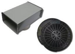 RECIRC-B2/F-WM Recirculating Kit for Ductless Venting Cavaliere-Euro Range Hoods with Air-Divrter and Charcoal Filter  in Stainless