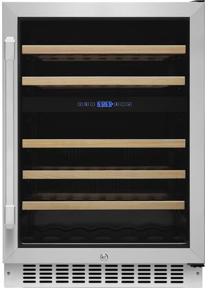 Dacor HWC242R Renaissance Series 46 Bottle 2 Zone Wine Cooler with DynamicClimate Mode EasyGlide Racks Automatic Defrosting System and Right Hinge Door in Stainless