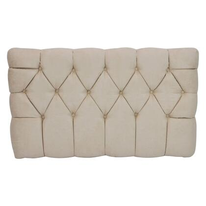 inch Meridia 11201TS Collection inch  Tufted Upholstered Twin Headboard with Metal Legs and Wood Frame in Tan