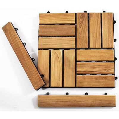 899029001521 Le click Teak Set of 2 End Pieces with Loop