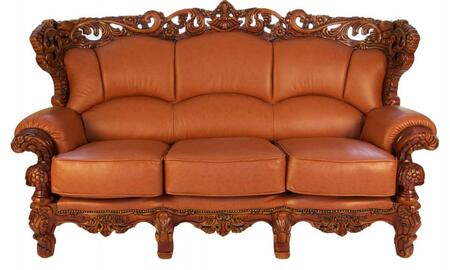 2189BROWNS2SET Traditional 2 Piece Livingroom Set  Sofa and Loveseat in Brown with Mahogany Wood